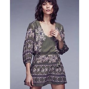 Free People Moonlight Drive Green Peasant Dress